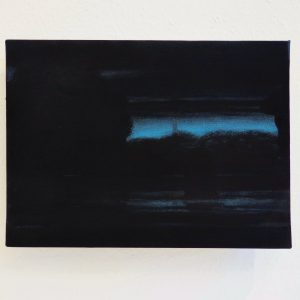 Lienhard von Monkiewitsch Flußlandschaft 2013 Acryl Öl Pigment Leinwand